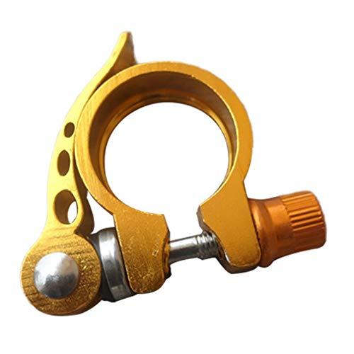 Serrures matérielles de porte VTT Seat Tube Clamp vélo Cadre tube de selle de serrage de verrouillage à dégagement rapide Boucle en aluminium tube de selle de serrage (Color : Yellow28.6)