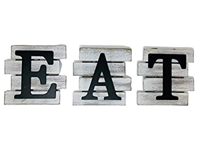 Kitchen Decor Wall Art, Country Decor, Rustic Farmhouse Decor for the Home, EAT Sign Decorative Wall Art
