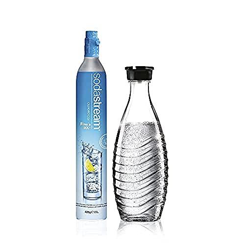 Sodastream Pack Cylindre CO2 supplémentaire + 1 Bouteille en verre