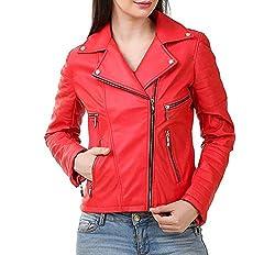 DELHITRADERSS® Stylish Girls/Ladies/Women Slim Fit Zipper Design Winter Jacket(Code-Red)(Size-XL)