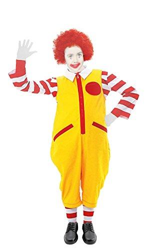 The Dragons Den Disfraz de payaso Ronald McDonald para nios de 10 a 12 aos de edad
