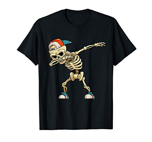 Hochwertiges Kinder T-Shirt - Dabbing Skelett Hip-Hop Dab
