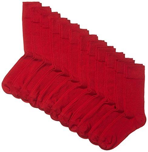 Hikaro Herren Socken 12er Pack, Gr. 39/42, Rot (rio red 440)