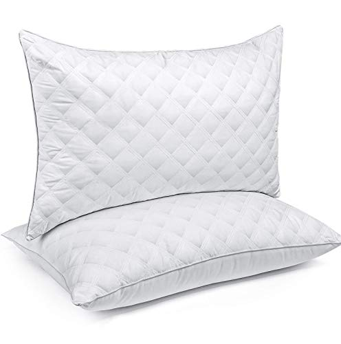 Bed Pillows for Sleeping(2-Pack) Luxury Hotel Collection Gel Pillow Good for Side...