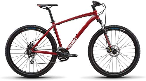 Diamondback Bicycles Overdrive Hardtail Mountain Bike with 27.5' Wheels, 16'/Small, Red