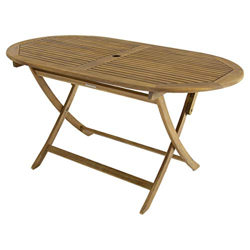 Bentley Garden - Table de Jardin Ovale Pliable - Bois