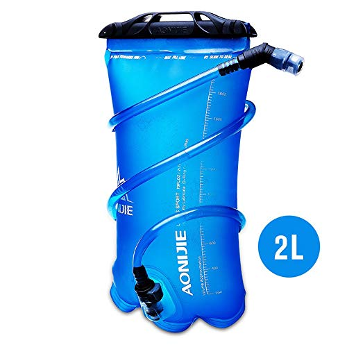 1,5 l/2 l/3 l Faltbare TPU-Wassersack-Trinkblase für Outdoor-Sport Laufen Camping Camping Wanderrad, 2 l