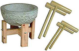 石臼餅つきセット(石臼:3升用、杵:大人用2本,子供用2本)