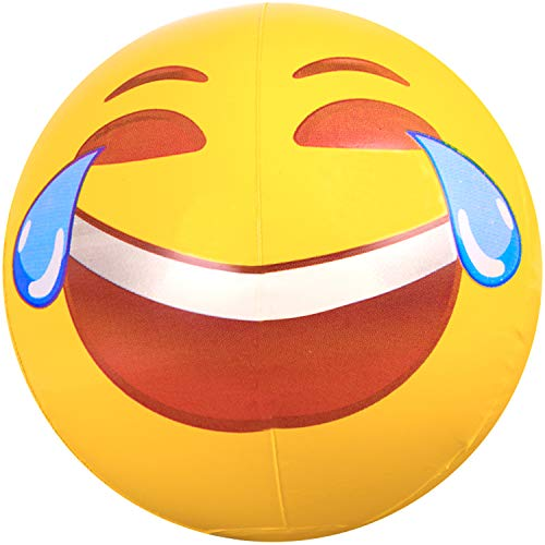 Coconut Float Emoji Beach Ball Tears of Joy - Laughing & Fun Emoji 18 in Beach Ball