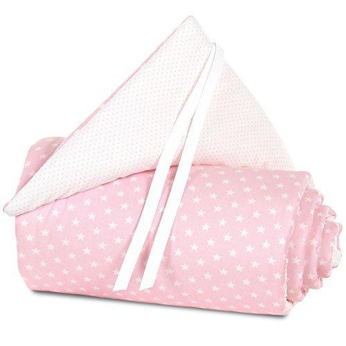 babybay Nestchen Organic Cotton für Maxi, Boxspring und Comfort, rose Sterne weiß