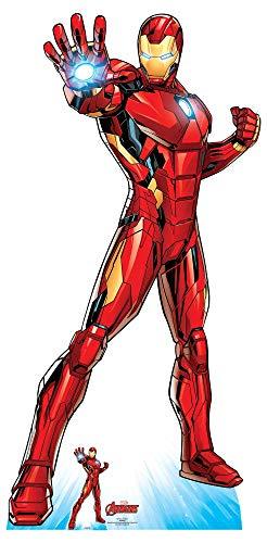 Star Cutouts SC1612 Ltd Iron Man Super Hero Pappaufsteller in Lebensgröße, ideal für Marvel-Fans, Partys und Veranstaltungen, Höhe 191 x Breite 94 cm, mehrfarbig