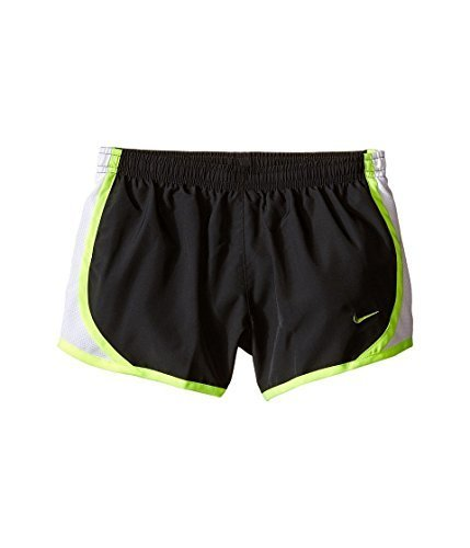 Nike Kids Girls' Tempo Short (Little Big Kids), Anthracite/White Volt, MD (10-12 X One Size