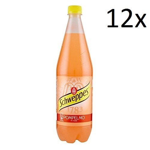 12x Schweppes pompelmo rosa Grapefruit Lemonade PET 1 Lt erfrischend