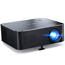 Beamer, APEMAN Native 1080P Full HD Projector, 300'' LED Display Unterstützt 4K Video, ±25° Fern Elektronische Korrektur, kompatibel mit HDMI, USB, Phone, Laptop, TV Stick, PS4, Xbox, Für Heimkino©Amazon