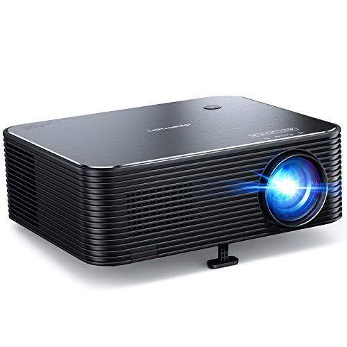 Projecteur, APEMAN 1080P Natif Full HD Vidéoprojecteur, 300' Screen LED Rétroprojecteur Soutiens 4K, ±25° Correction trapézoïdale électronique, Compatible HDMI/USB/AV/Phone/Stick/PS4, pour Home Cinéma