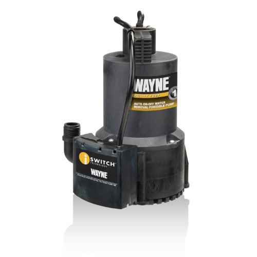 Wayne 57729-WYN1 EEAUP250 1/4 HP Automatic ON/OFF Electric Water Removal Pump