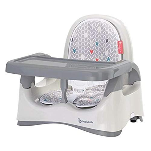 Badabulle Folding Height-Adjustable Baby Comfort Booster Seat, Grey