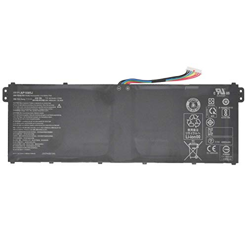 Hubei 7.7V 37Wh AP16M5J Laptop Battery Replacement for Acer Aspire 1 A114-31 A114-31-C4HH A114-31-C5GM 3 A314-31 A315-21 A315-51 5 A515-51 A515-51-75UY ES1-523 ES1-523-2342 KT00205005