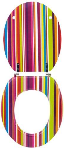 Wirquin 20717964 Trendy Line - Tapa para inodoro, diseño de rayas