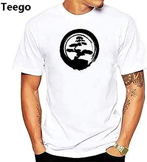 Peace Design Bonsai Art Tshirt Men jollypeach White Casual t Shirt Homme Comfortable Skin Friendly Plus Size t-Shirt : pn1988, Men XL
