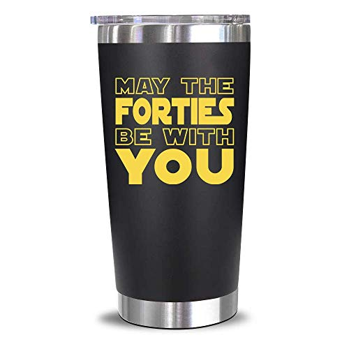 40th Birthday Gifts For Men, Women - 1981 40th Birthday Decorations For Men, Women - Gifts for Women Turning 40 - 40 Year Old Gifts For Men, Him, Her, Husband, Wife, Dad, Mom, Friends - 20 Oz Tumbler