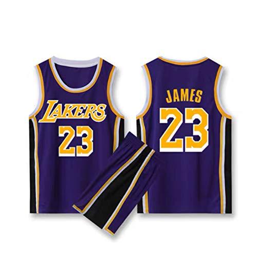 Shelfin Men's Basketball Jersey James Lakers No. 23 Jersey, Ropa Deportiva, Camiseta sin Mangas Unisex, Baloncesto de Malla Bordado Jersey Swingman Purple-XXXXL