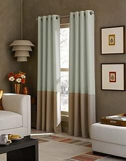 Curtainworks Kendall Color Block Grommet Curtain Panel, 95 inch, Peacock