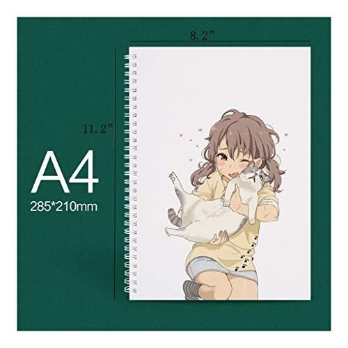 cuadernos Bosquejo del libro: Cuaderno for escribir, pintar, dibujar o garabatos animado bloc de dibujo, los niños aprenden a dibujar, (cubierta for el animal lindo) Cuaderno de moda ( Color : D )