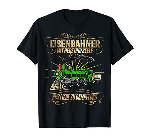 Eisenbahner mit Herz und Seele | Eisenbahn Modellbau Zug T-Shirt