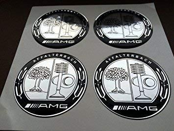 AMG & # x2605; 4unidades, & # Entrenamiento; 65mm Pegatinas Emblema para llantas Buje Tapa Tapacubos