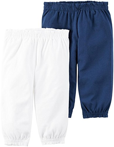 Carter's Baby Girls' Bottoms 126g602, White, 24 Months