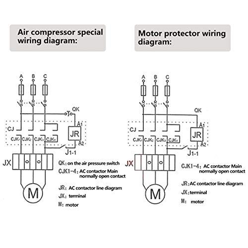 Shipenophy Accesorio eléctrico trifásico AC con Interruptor de Encendido/Apagado para Elegante Externo 7.5KW