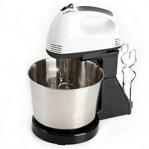 Keuken Elektrische Mixers, 2.5L Roestvrij Staal Mixing Bowl, 7-Speed Electric Keuken Mixers, Food Mixer Met Deeghaak, Wire Whip & Beater,Black