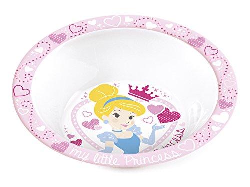 Home Disney Princess Assiette Creuse en Mélamine, Rose, 20 cm