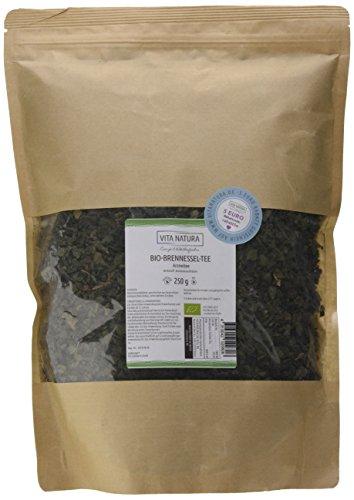 Vita Natura Brennnesselblätter Tee, loser Arzneitee, Bio, 1er Pack (1 x 250 g)