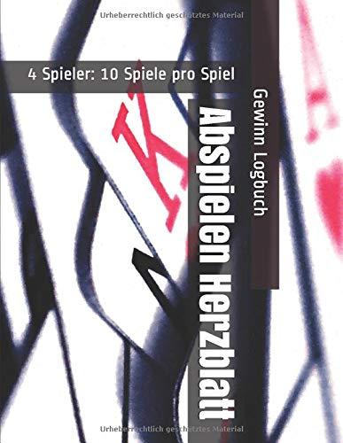Abspielen Herzblatt - 4 Spieler: 10 Spiele pro Spiel - Gewinn Logbuch