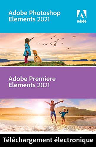 Adobe Photoshop & Premiere Elements 2021   1 Usager   PC   Code d'activation PC - envoi par email