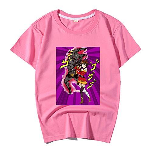 ZZAOO JoJo's Bizarre Avontuur Katoen T-Shirt, Japanse Anime Print T-shirt met korte mouwen Unisex Anime Fans Gift