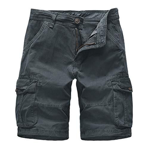 Herren Cargo Hose, Sumeiwilly Männer Chino Shorts Sommer Kurze Hose Bermuda Baumwolle Shorts Training Fitness Sweatpants Lässige Shorts