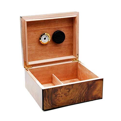 Suytan Zigarettenetui Cigar Cabinet Men \'s Geschenkbox Zigarrenholz Massivholz Humidor Box Mit Hygrometer Und Luftbefeuchter Konstante Temperatur Und Luftfeuchtigkeit Dichtung Große Kapazität Kann Cl
