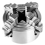 Cocosity Parti del tornio del mandrino, mandrino a 4 Griffe Reversibile Indipendente ad Alta durezza, Diametro 80 mm per fresatrice CNC per tornio