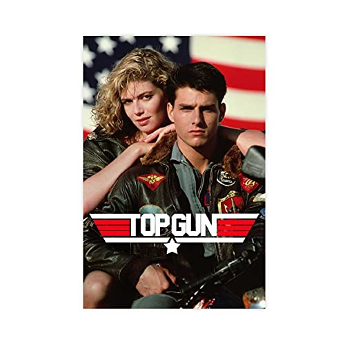 Top Gun Original Movie Poster 1986 Nostalgia Canvas Poster Wall Art Decor Print Picture Paintings for Living Room Bedroom Decoration DONGDA Poster Unframe:08×12inch(20×30cm)