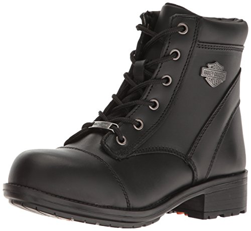 Harley-Davidson Women's Raine St Work Shoe, Black, 9 M US