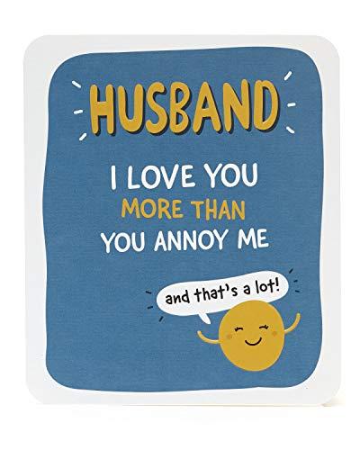 Echtgenoot verjaardagskaart - Grappige kaart voor man - Verjaardagskaart voor man - Cadeaukaart voor hem - Cadeaus voor man - Blauwe en oranje kaart - Humourous kaart