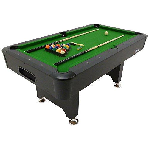 Viavito Unisex's PT200 6ft Pool Table, Black/Green, 6 ft