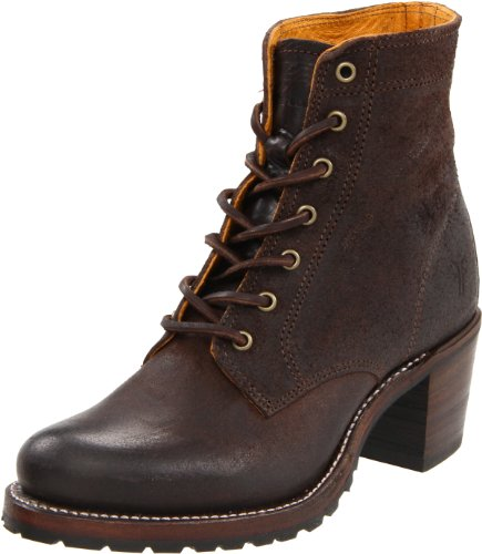 Frye Women's Sabrina 6G Lace Up Ankle Boot, Dark Brown-77591, 7 Medium US