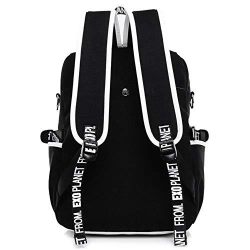 Twhoixi Tokyo Ghoul Backpacks Canvas School Backpack for Teenagers Male Female Kaneki Ken Printing Travel Bag