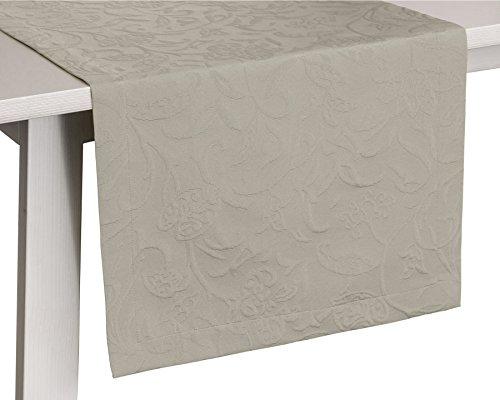 Pichler CORDOBA_050/150_PL hochwertig und bügelfrei - Gedeckläufer 50 x 150 cm platin