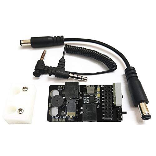 5,8g RX-Port 3.0-Plus-DJI Digital-FPV-Schutzbrillen Niederspannungsalarm Simulation Empfängerplatte + Metalladapter Montage Combo for DJI Fatshark FPV Brille langlebig 1121 ( Color : Only Receiver )