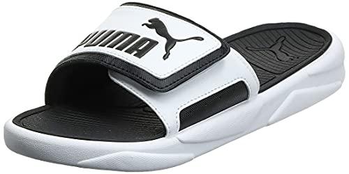 PUMA Royalcat Comfort, Sandalias Deslizantes Unisex Adulto, Blanco White Black, 40.5 EU